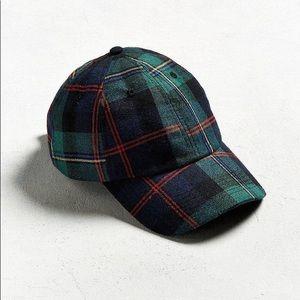 NWOT Urban Outfitters Tartan Green Plaid Hat